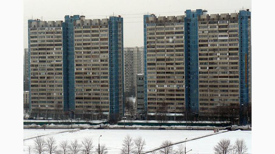 Типовая панельная застройка в районе Ясенево