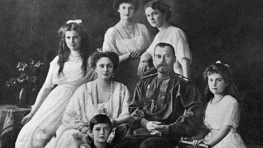Николай II с семьей, 1914 год