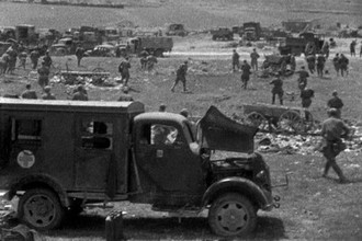 Советские войска в окрестностях Севастополя во время наступления. Весна 1944 года. Великая Отечественная война 1941-1945 гг.