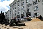 Баррикады передадминистрацией Луганска
