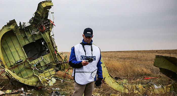 Специалист ОБСЕ на месте крушения Boeing