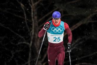 Российский лыжник Алексей Виценко
