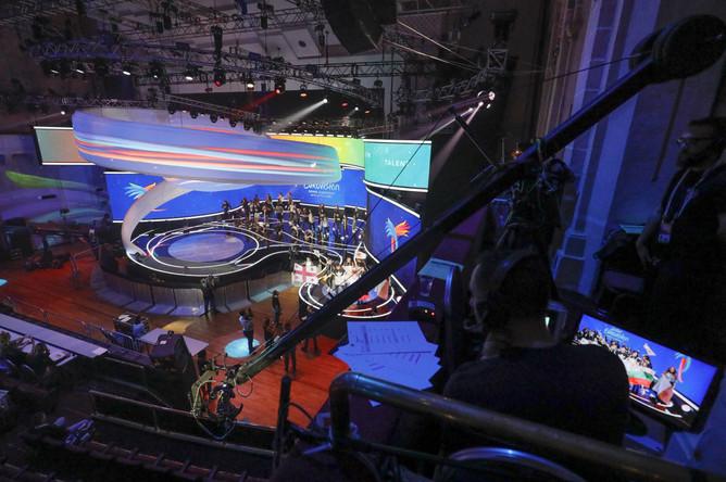Сцена детского конкурса «Евровидение»