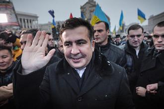 Михаил Саакашвили на площади Независимости, 2013 год