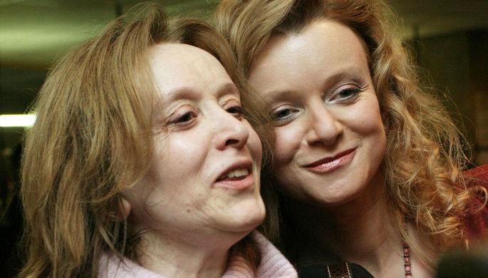 Маргарита Терехова с дочерью Анной, 2005 год
