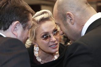 Певица Лайма Вайкуле и продюсер Игорь Крутой на мероприятии в Москве, 2011 год
