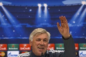 Главный тренер «Реала» Карло Анчелотти на пресс-конференции перед матчем с «Шальке»