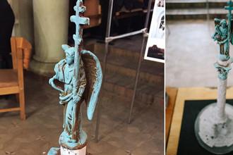 Проект колонны с ангелом, которую хотят установить в Харькове