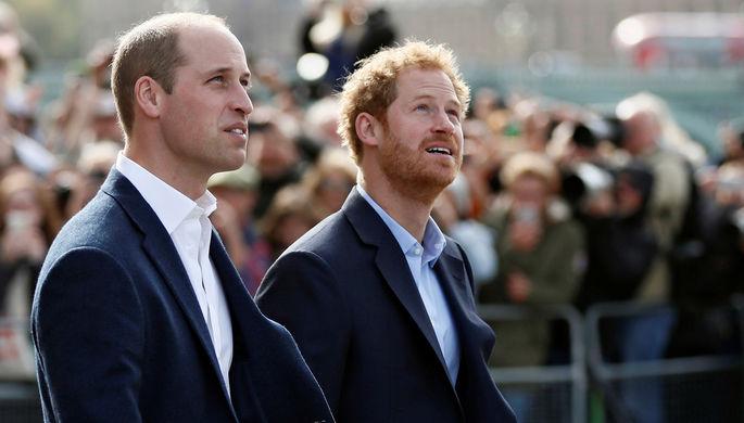 Принц Уильям с братом принцем Гарри