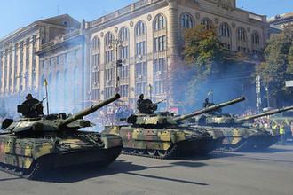 Военный парад в Киеве по случаю Дня независимости Украины, август 2018 года