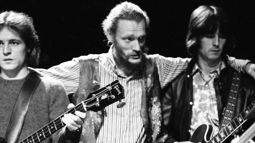 Солисты группы Cream, 1968 год. Джек Брюс, Джинджер Бейкер и Эрик Клэптон (справа)